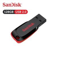Original SanDisk USB Flash Drive Cruzer Blade U Disk CZ50 128GB Pen Drives USB 2.0 Memory Stick SDCZ50