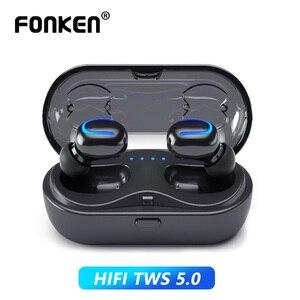 Image 5 - FONKEN Q13S Bluetooth אוזניות TWS HiFi סטריאו בס מוסיקה אוזניות עמיד למים ספורט אוזניות אלחוטי אפרכסת עבור Smartphone