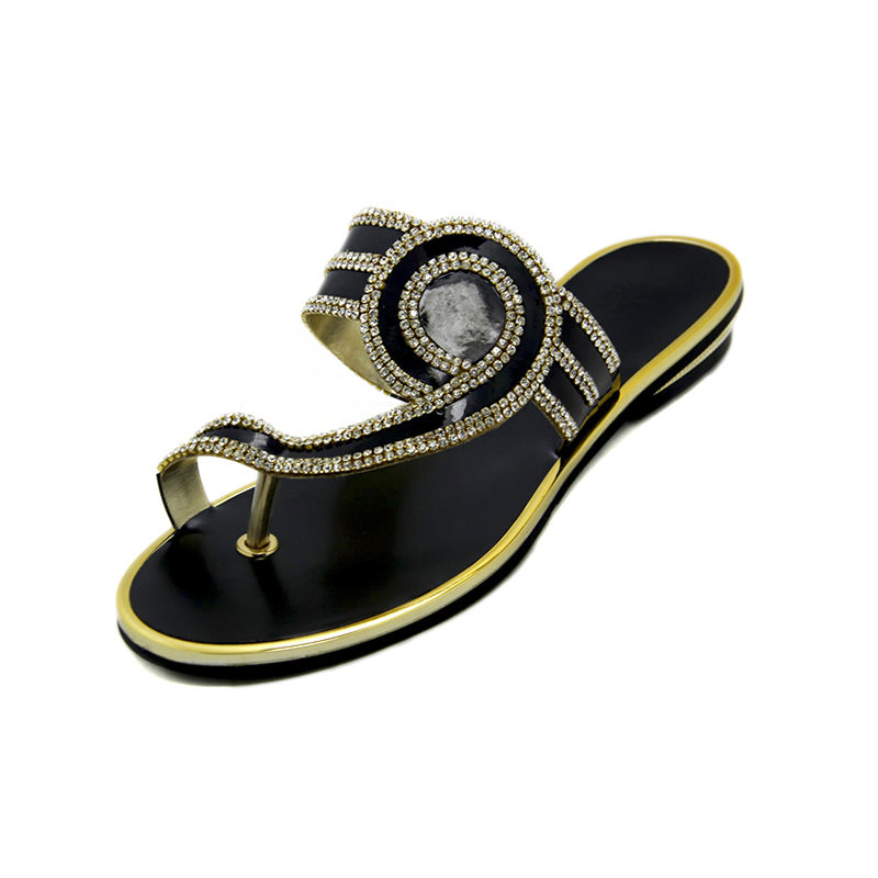 New Model Womens Flat Sandals Summer 2016 Women Rhinestone