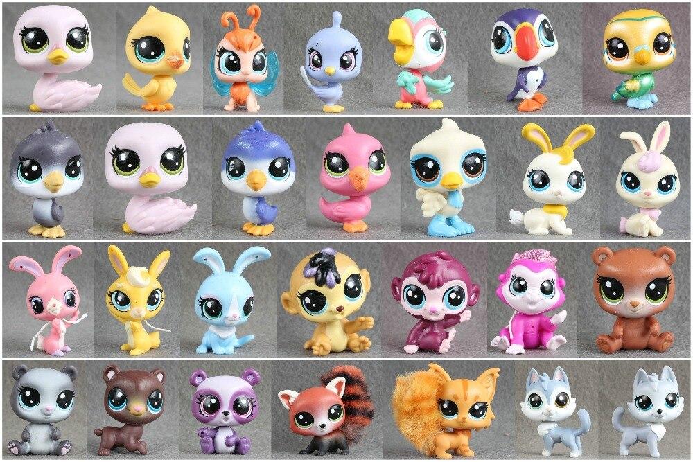 1pcs Littlest Pet Collection Figure Bird Ribbat Monkey Owl Animals Child Loose Cute Toys