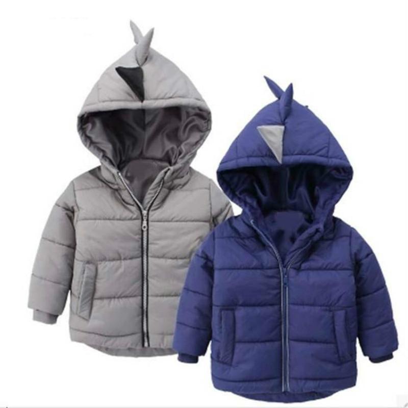 Куртка для мальчиков зимнее пальто Детская верхняя одежда модный стиль для маленьких мальчиков теплое пальто Дети младенческой одежда с ка...