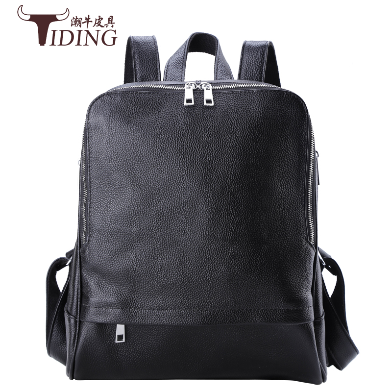 woman travel bags genuine leather 2017 new fashion brand woman black cow leather vintage casual student backpack bags lady 2017 new arrival leather backpack casual bags