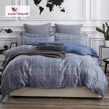 SlowDream Mans Bedspread And Bedding Set Bed Linens Euro Double Sheet Duvet Cover Bedclothes Pillowcases Nordic