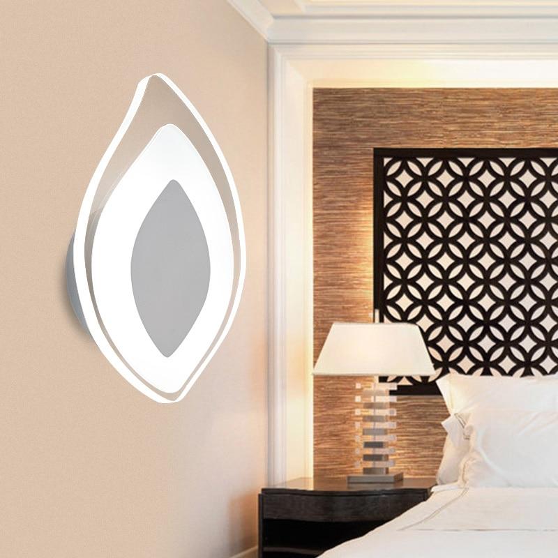 ФОТО Modern Simple White 5W LED Bedside Lamp Creative Aisle Staircase Living Room Wall Light Hallway Bedroom Wall Sconce Fixture W270