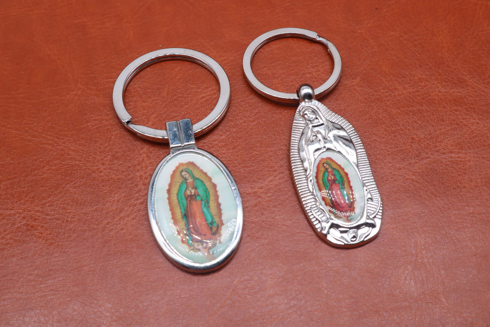 Classic Silver Charm Guadalupe Marie key key ring, key car, key ring, handbag, gift accessories free shipping