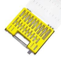 150Pcs Set 24Sizes High Speed Steel HSS Mini Micro Precision Drill Bit Twist Kits Set With