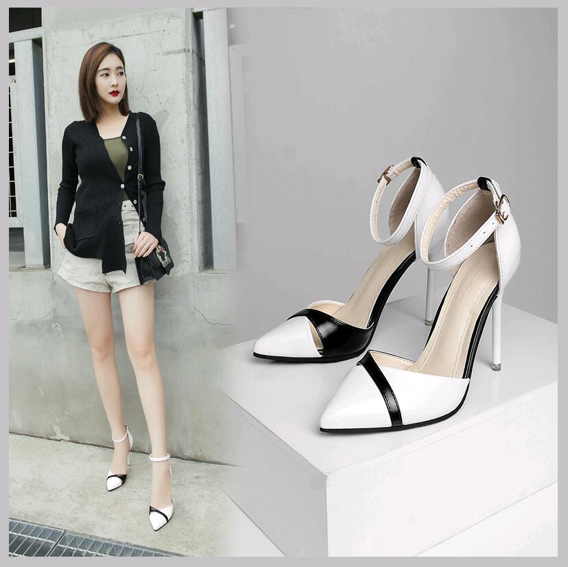 Sandals Single-Shoes High-Heels Korean-Version Women's Stiletto Sexy Hollow Of Wild-Work