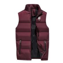 Fashion Men Cotton Vest Autumn and Winter Thickening Warm Vesst Men Windproof Sleeveless Jacket Mens Lovers Couple Waistcoats