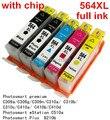 Hp564xl 564 XL cartucho de tinta compatível para HP Photosmart C309a C309g C309n C310a C310b C310c C410a C410b C410d C510a B210b
