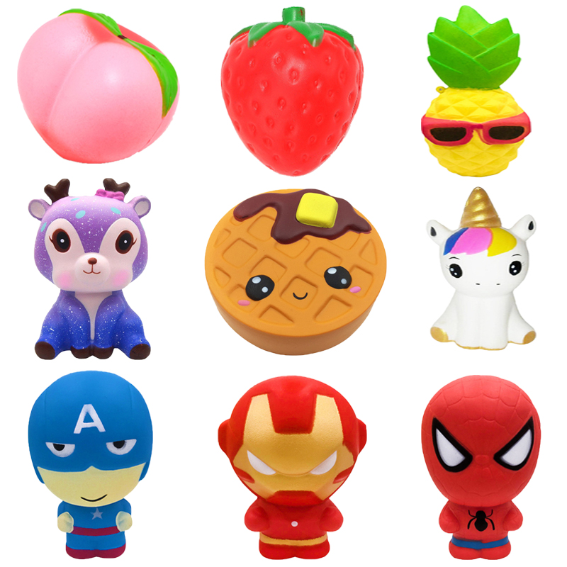 Unicorn Fruits Animals Squishy Jumbo Cute Slow Rising Kawaii Squish Toy For Kids Anti Stress Reliever Decompression Squeeze Toy