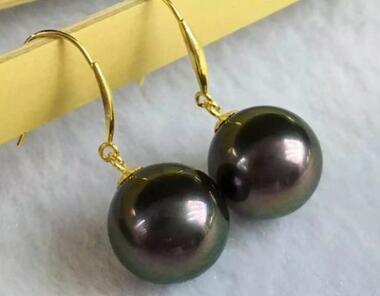 Free shipping natural 10mm tahitian black green pearl earrings 14 gold 500g natural organic moringa leaf pow der green pow der 80 mesh free shipping
