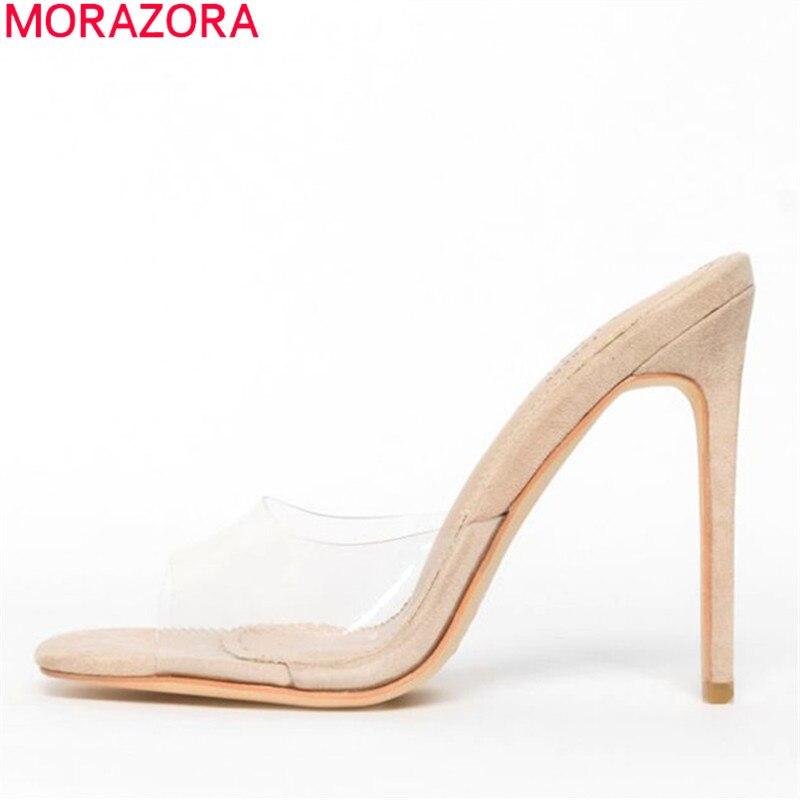 MORAZORA 2019 nuovo stile sexy sottile tacchi alti sandali della donna abito unico partito scarpe da sposa donna estate sandali TrasparentiMORAZORA 2019 nuovo stile sexy sottile tacchi alti sandali della donna abito unico partito scarpe da sposa donna estate sandali Trasparenti
