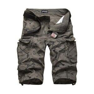 Image 4 - 2020 yaz pamuk Mens kargo şort moda kamuflaj erkek şort çok cep rahat Camo açık havada Tolling Homme kısa pantolon