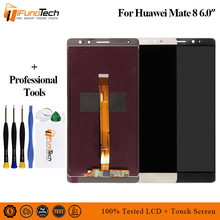 100% Original LCD for Huawei Mate 8 LCD Screen Display with Touch Panel Digitizer with Sensor Flex Cable Replacement Spare Parts for honey well hhp lxe mx7 lcd display inner screen and touch screen digitizer panel parts 100