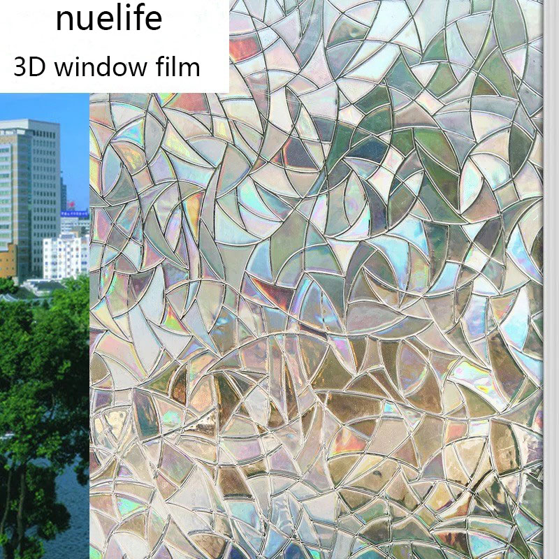 60*300cm Frosted Static Cling Home Window Film Stained Glass Paper Decor DIY