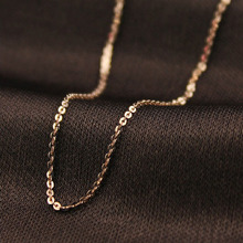 RE classic basic chain 316l stainless steel adjustable statement necklace female gold fashion jewelry J35