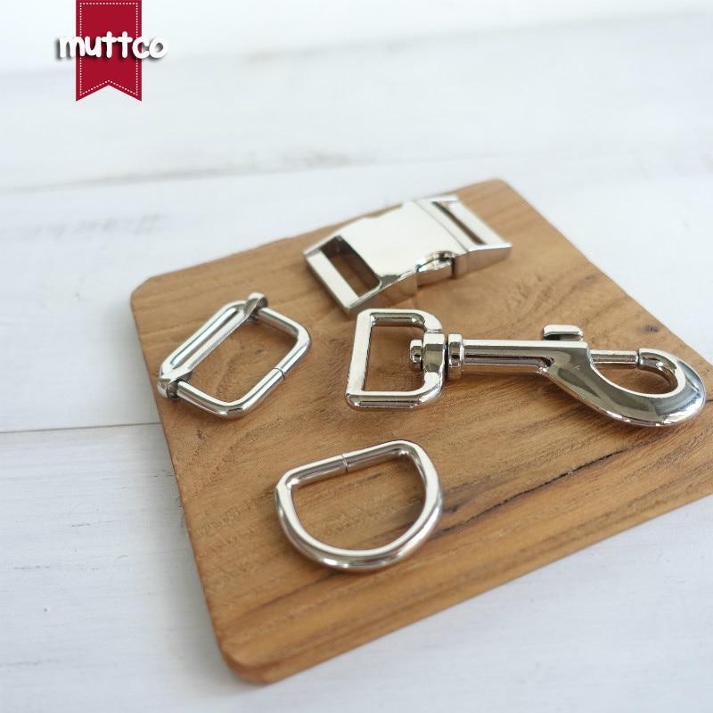 100sets/lot (metal buckle+adjust buckle+D ring+metal dog