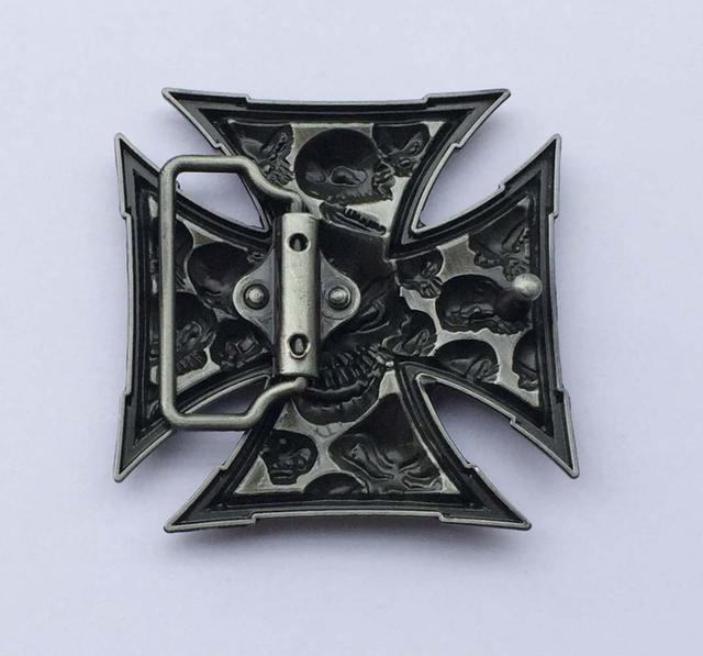 CROSS SKULL METAL BUCKLE