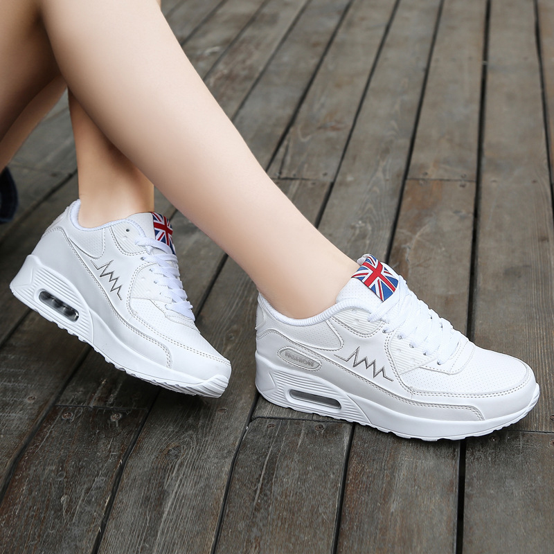 Super Fashion Female 39 s Sneakers Breathable Comfortable Air Cushion Girl Running Shoes Outdoor Jogging Walking Shoes Zapatillas in Running Shoes from Sports amp Entertainment