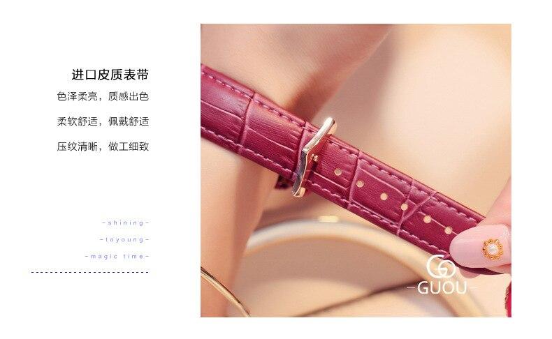 Relojes para mujer novo relógio de quartzo
