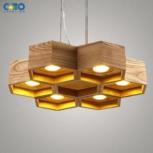 Image 5 - Legno A Nido Dape LED Moderna Lampada A Sospensione Coperta Sala da pranzo Foyer Casa Ornamento Pendente Luce 110 240 V Spedizione Gratuita