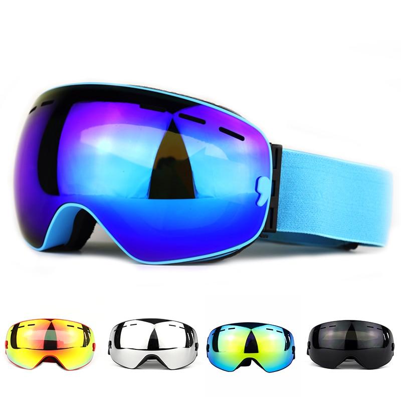 Anti-UV400 очки для защиты от ветра и тумана, трехслойные губчатые двухслойные линзы, высокие лыжные очки унисекс, альпинистские лыжные принадлежности