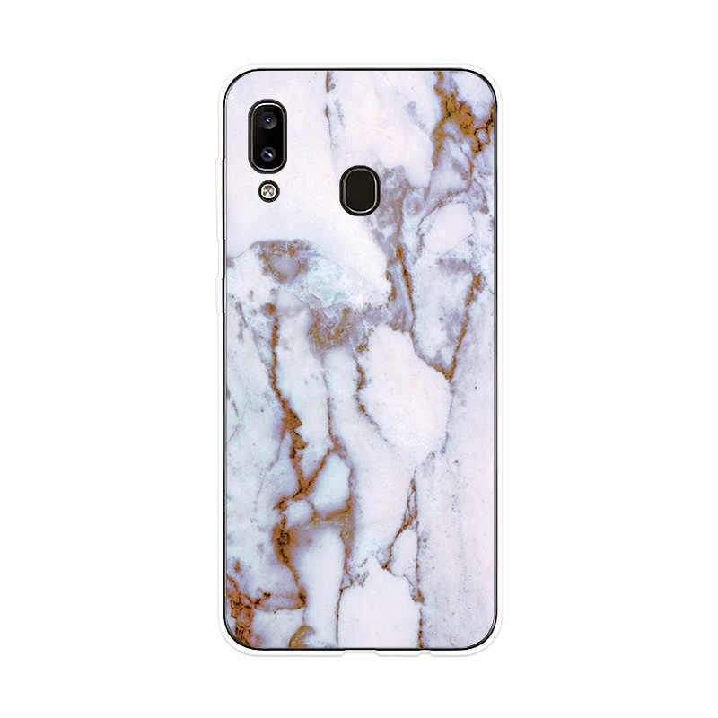 Téléphone étui pour Samsung Galaxy A10 A20 A20e A30 A40 A50 A60 A70 A80 A90 Couverture Motif Marbré pour Samsung M10 M20 M30 Cas