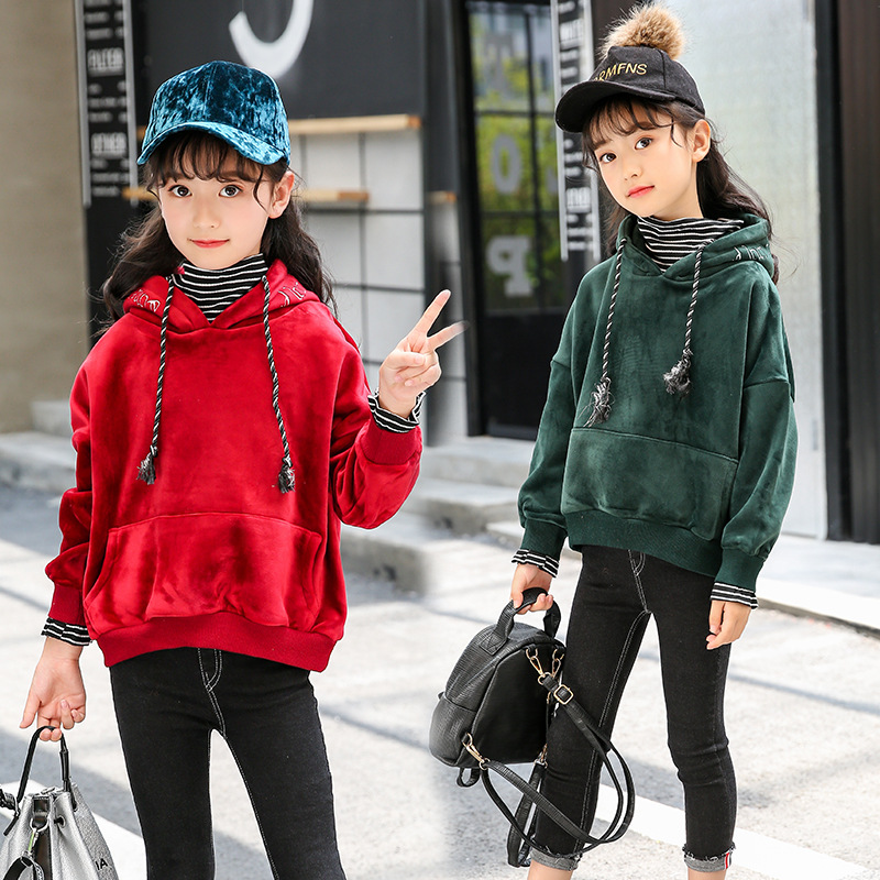 Hooded Jackets For Girls 3 4 5 6 7 8 9 10 11 12 Years Teenage Girls Fashion Long Sleeve Sweatshirt Coat Autumn Children Clothing kids jackets for girls spring autumn style toddlers children clothing solid casual 2 3 4 5 6 7 8 year girls coat gray navy