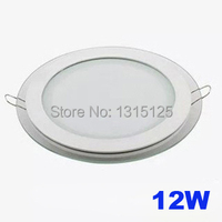 Modern Design With Glass 12W LED Ceiling Recessed Downlight Round Panel Light Kitchen Light 160mm 1pc