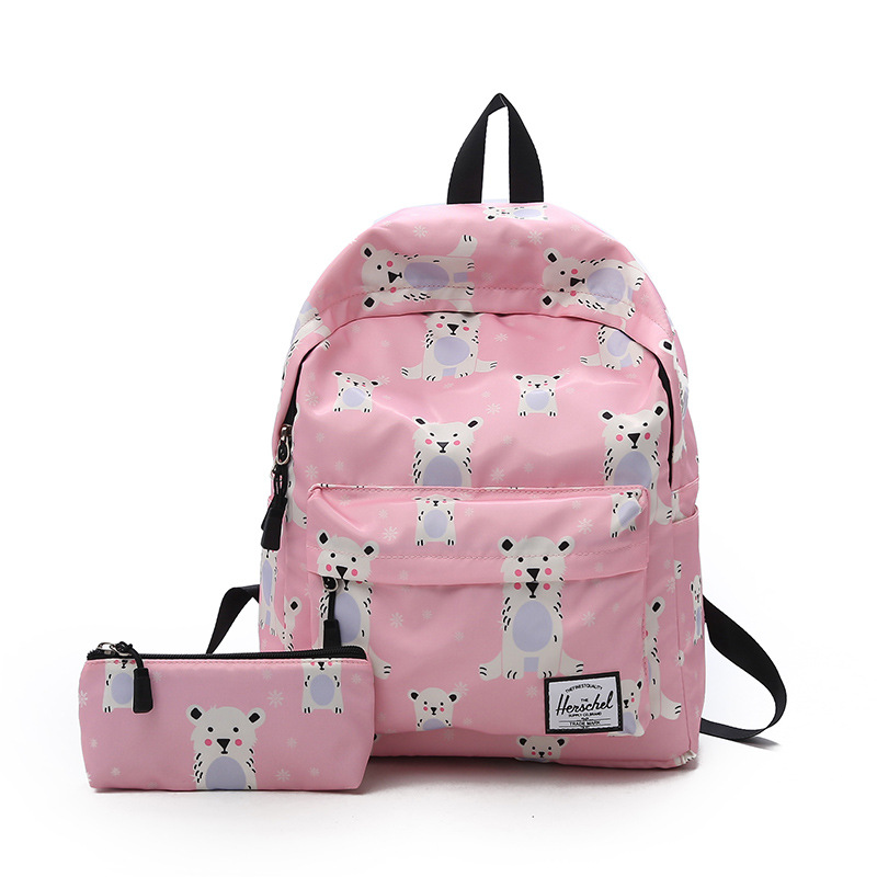 Preppy Style Nylon Backpack Women Backpacks Female School Bags for Girls Fashion Travel Bag High Capacity Rucksack Mochila in Backpacks from Luggage Bags
