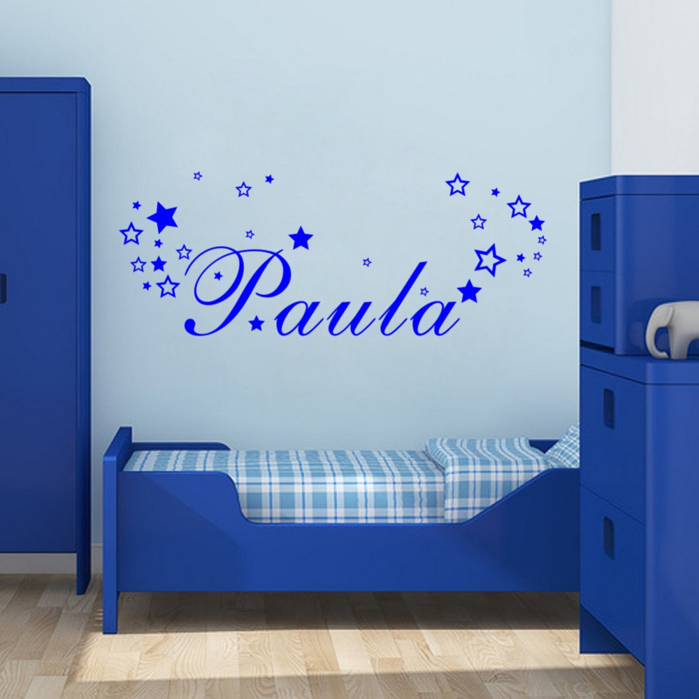 Wall Art Personalised Boys Girls Name Vinyl Sticker with ...