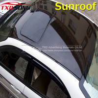 Glossy Black Car Sunroof Wrap Roof Film Vinyl DIY Sticker Waterproof Air Release 1.35x15M by free shipping