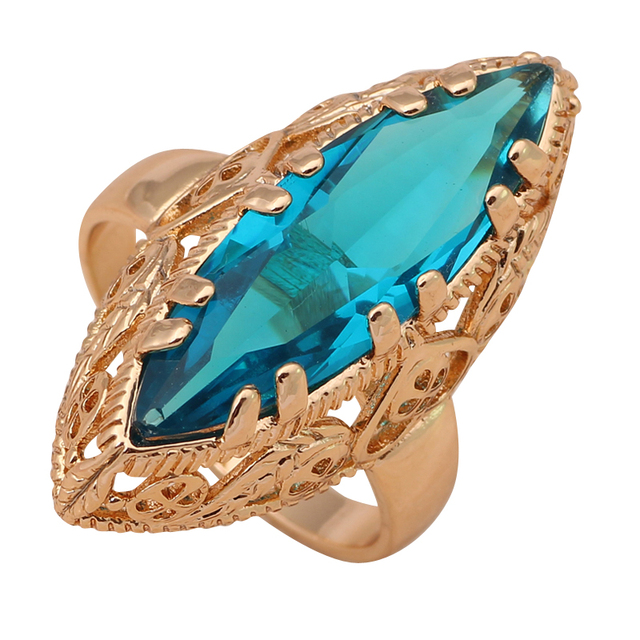 US $5 2 |jewelry Huge ring Gold color Health Fashion Jewelry Nickel & Lead  Free Golden Element Ring Sz #7#8#9 JR2022A-in Engagement Rings from Jewelry
