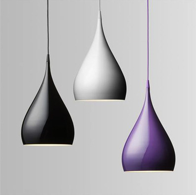 Fashion Personality Single Head Bar Counter Pendant Light Aluminum Purple Red White Lights Dining Room Lamp E27 Candle L43