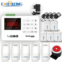 Earykong GSM Alarm System Capacitive Touch Keyboard Color Screen Voice Prompt English Russian Spanish Door Magnet