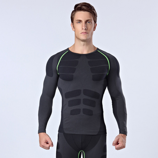Mens Compression Under Base Layer Sports Gym Athletic Tight Fitness T-Shirt Tops