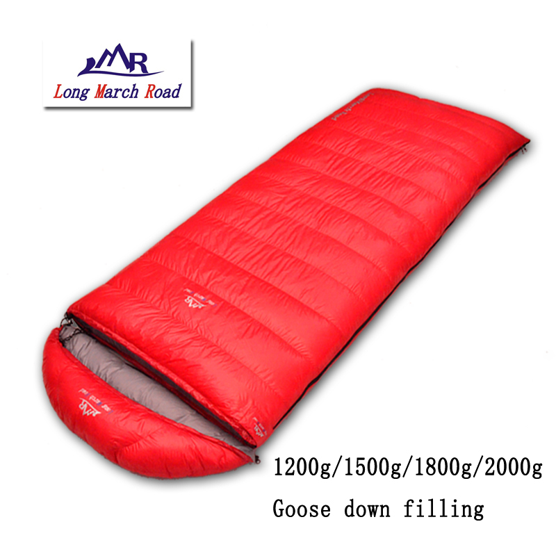 LMR outdoor Spring Autumn Winter falling 1200g/1500g/1800g/2000g goose down envelope mountaineering outdoor camping sleeping bag falling kingdoms rebel spring