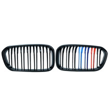 купить 1 Pair Car Styling Black M 3 Double Slat Front Kidney Grille Racing Grill For BMW F20 LCI 1 Series 114i 116i 118i 120i 125i P8 дешево