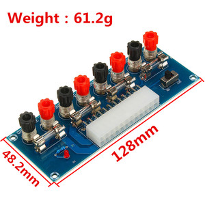 Image 2 - XH M229 데스크탑 pc 섀시 전원 atx 전송 어댑터 보드 전원 공급 장치 회로 콘센트 모듈 24 핀 출력 터미널 24 핀