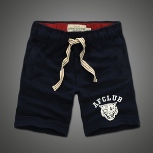 Image 5 - Shorts men 100% cotton Embroidery Casual keen length short masculino with pocket on side Drawstring