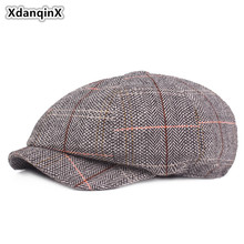 XdanqinX Mens Hat Cotton Retro Newsboy Caps Unisex British Fashion Style Snapback Vintage Brand Womens Literary Youth