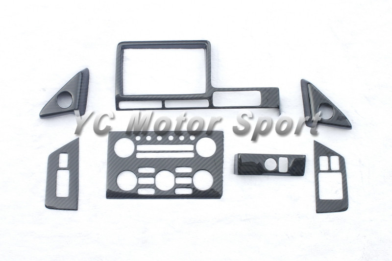 Dry Carbon Fiber RSW Style Interior Trim Kit 7pcs Fit For 2008-2010 - Car Interior Accessories