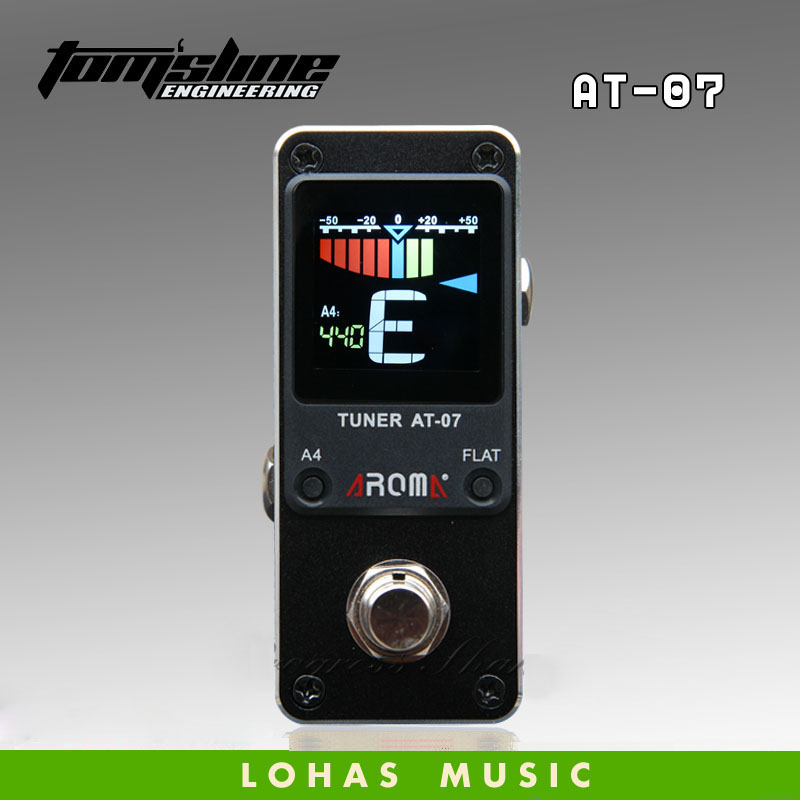 Electric Guitar Effect Pedal tuner /Aroma Tuner AT-07  small and compact design chromatic free shipping mooer baby tuner tuner pedal 108 high brightness led and is visible even in strong light and sun guitar pedal effect pedal