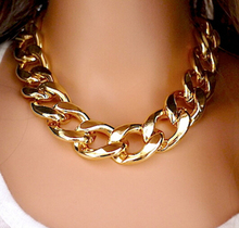 Gift CCB Chain Statement Necklaces & Pendants Women Jewelry Wholesale Fashion Necklaces For Women 2015 Gold&Silver Plated
