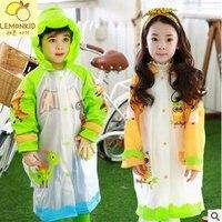 Impermeable Children Raincoat High Quality Plastic Transparent EVA Rain Coat Waterproof Kids Rainwear Rain Gear Poncho
