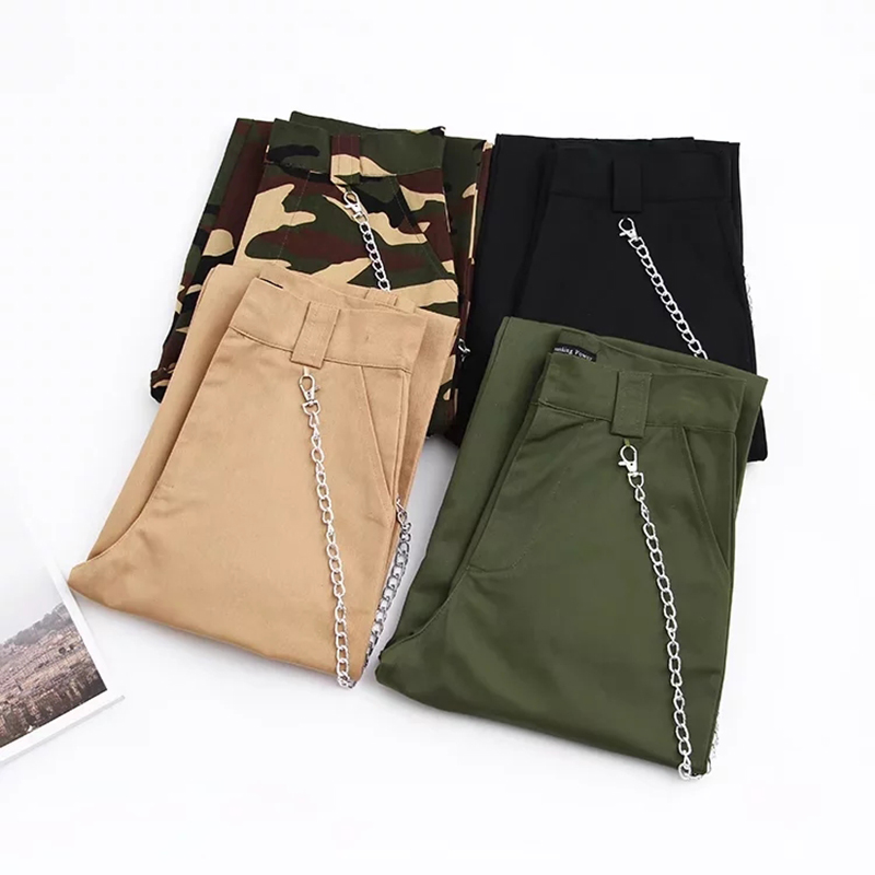 Woman high waist pants loose trousers joggers women camouflage sweatpants street wear 11