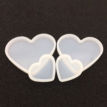 Pottery base Mud Resin Decorative Craft board Silicone Mould Jewelry Making molds new love heart Soft mold epoxy resin