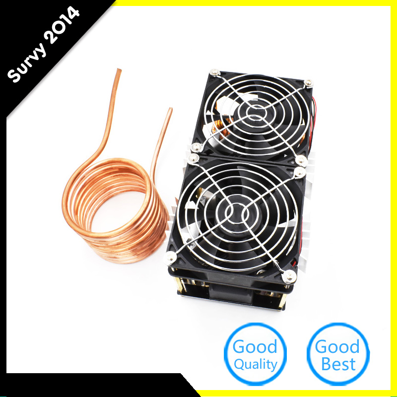 1800W ZVS Induction Heating PCB Board Module Flyback Driver Heater With Cooling Fan Interface + Copper Coil Mayitr
