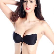 eafe1da8e31631 Wholesale Women Sexy Invisible Push Up Bra Silicone Lace Up Bralette Big  Size Strapless Bras Female