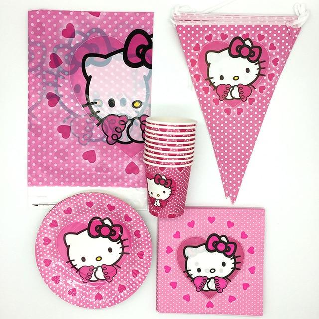 81pcs Set Cartoon Hello Kitty Theme Party Supplies Decoration